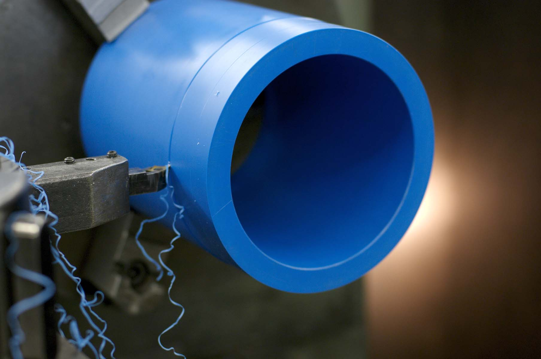 ThorPlas-Blue_machining closeup